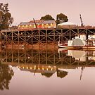 Echuca Wharf, Victoria, Australia by Michael Boniwell