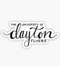the university of dayton flyers Sticker