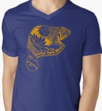 Honey Spot Blvd - Beaver Yellow Men's V-Neck T-Shirt