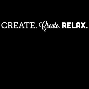 Create. Create. Relax. Simple Imagine Logo by heavynuggets
