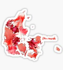 Watercolor Countries - Denmark Sticker