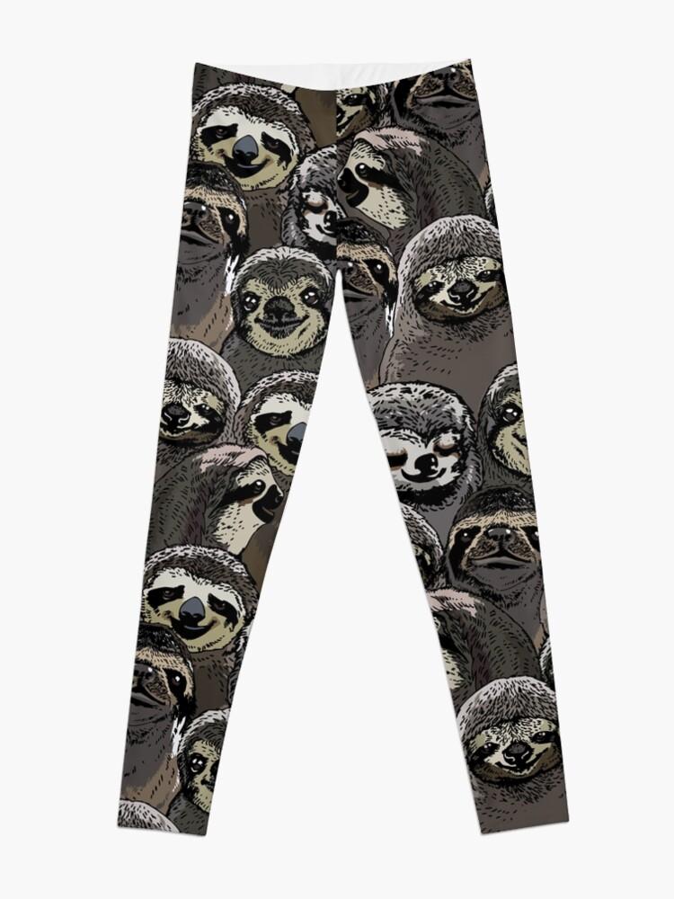 Alternate view of Social Sloths Leggings