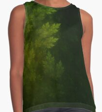 Beautiful Fractal Pines in the Misty Spring Night Contrast Tank
