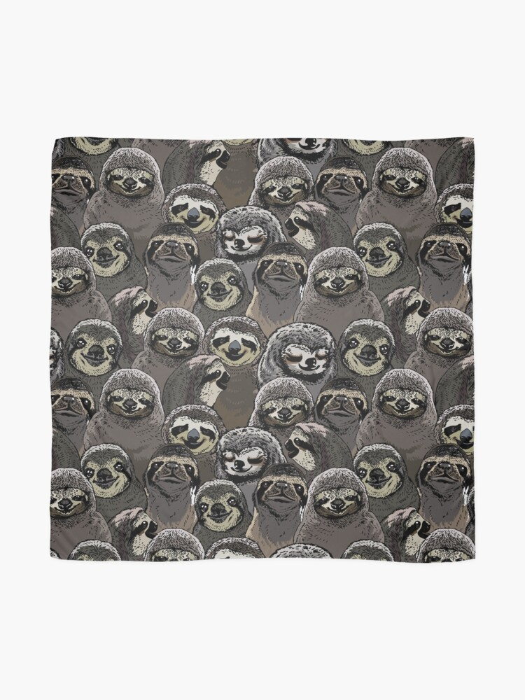 Alternate view of Social Sloths Scarf
