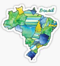 Watercolor Countries - Brasil (Portuguese) Sticker