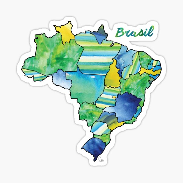 Watercolor Countries - Brasil (Portuguese) Sticker