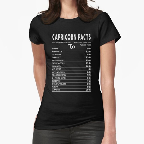 Capricorn Facts Fitted T-Shirt