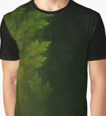 Beautiful Fractal Pines in the Misty Spring Night Graphic T-Shirt