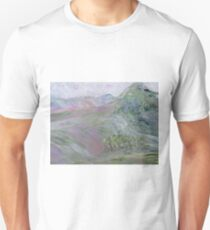 Pink Landscape Under Rosy Clouds Unisex T-Shirt