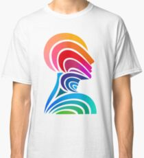 Multi-colored Thinking Head Classic T-Shirt
