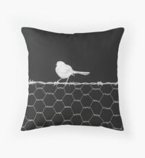 Bird on Wire 2 Throw Pillow