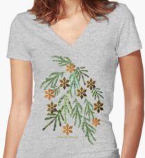 Season Greetings (14523  VIEWS) Women's Fitted V-Neck T-Shirt