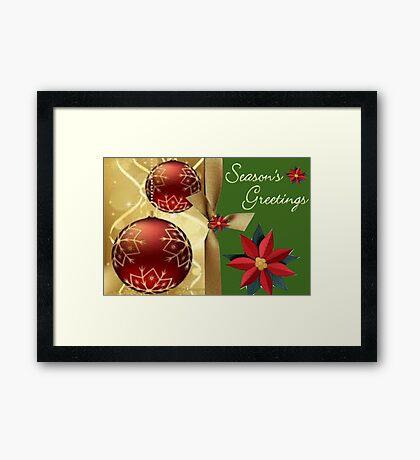 Season Greetings (14502  VIEWS) Framed Print