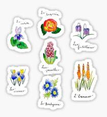 A Catalogue of Flowers Sticker