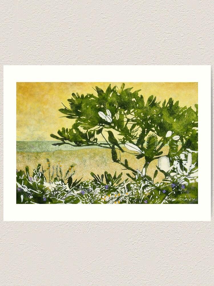 Alternate view of Fern-leafed Banksia Art Print