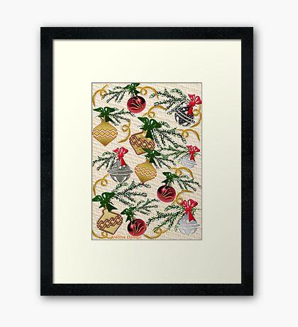 Christmas Decorations Pattern Framed Print
