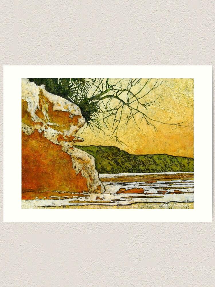 Alternate view of Angourie She - Oak Art Print