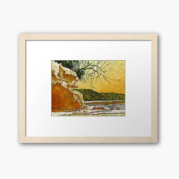 Angourie She - Oak Framed Art Print