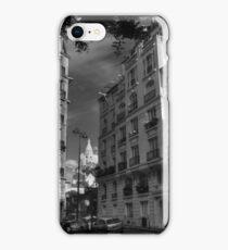 Paris - Montmartre Streetscape 003 BW iPhone Case/Skin