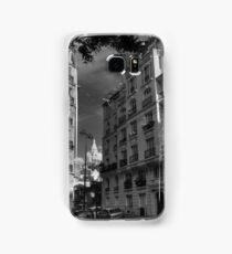 Paris - Montmartre Streetscape 003 BW Samsung Galaxy Case/Skin