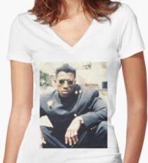 New Jack City Teaser Poster-NENO Women's Fitted V-Neck T-Shirt