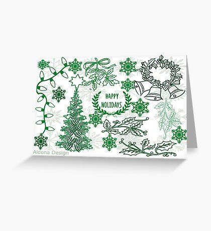 Christmas doodle (181 Views) Greeting Card