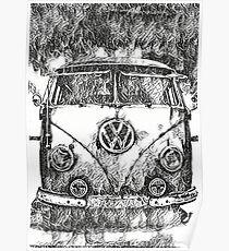 VW Camper Tattoo design Poster
