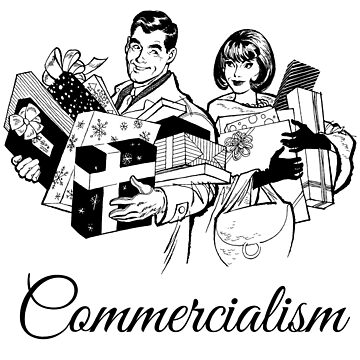Celebrate Commercialism & Merry Christmas ! by cartoon