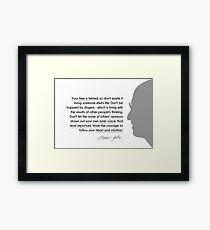your time is limited - steve jobs Framed Print