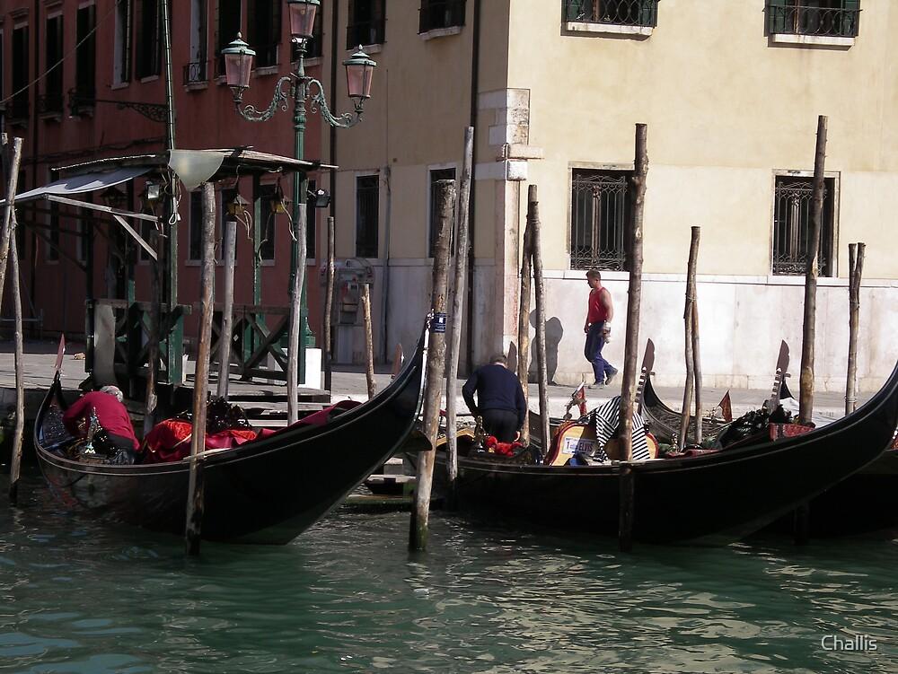 Venice Gondolas by Challis