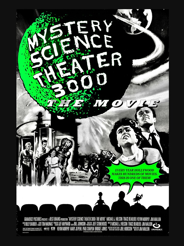 MST3K The Movie Black and White Poster by Radar180