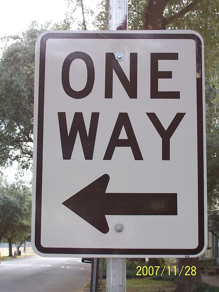 Life is a ONE-WAY street by sadeyedpoet