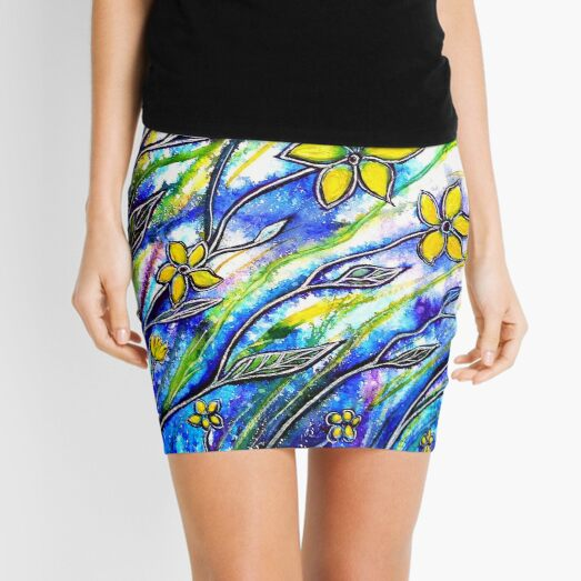 Daisy Delight - Flowers Mini Skirt
