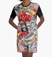 Spieler Freude - Las Vegas Icons Hintergrund T-Shirt Kleid