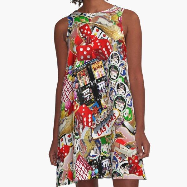 Gamblers Delight - Las Vegas Icons A-Line Dress