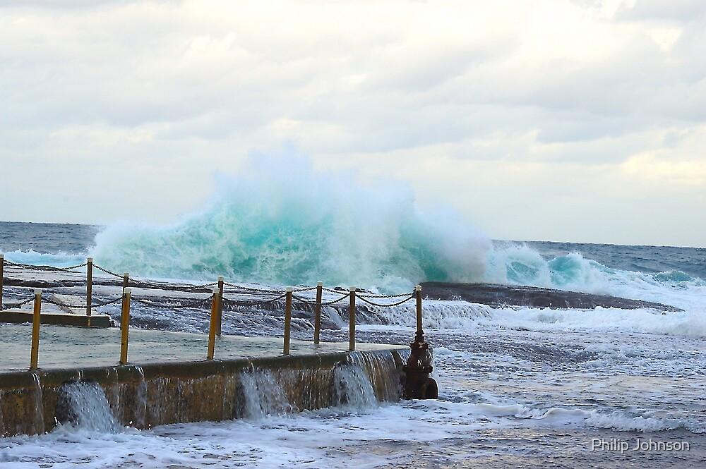 Standing Firm - Mona Vale Beach - Sydney Beaches - Sydney Australia by Philip Johnson