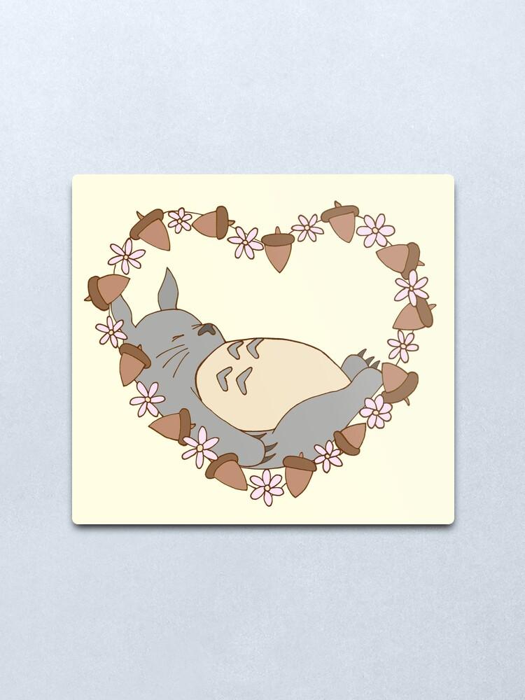 Alternate view of Sleeping Totoro Metal Print