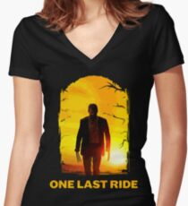 Last Ride  Women's Fitted V-Neck T-Shirt