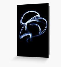 Blue Streak Greeting Card