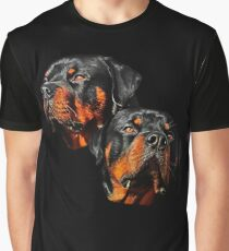 Rottweiler Dog Portrait Graphic T-Shirt