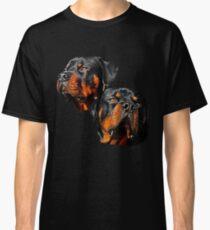 Rottweiler Dog Portrait Classic T-Shirt