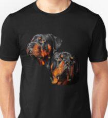 Rottweiler Dog Portrait Unisex T-Shirt