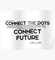 connect the dots looking backwards - steve jobs Poster