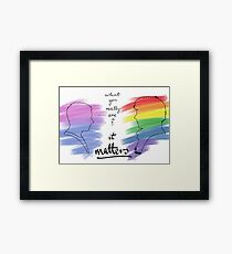 Johnlock LGBT pride (out version) Framed Print