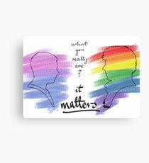 Johnlock LGBT pride (out version) Canvas Print