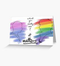 Johnlock LGBT pride (out version) Greeting Card