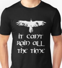 Crow, it can't rain all the time Slim Fit T-Shirt