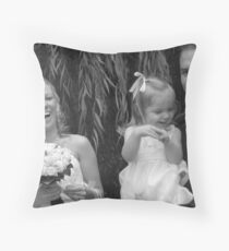 Just the three of us! Throw Pillow