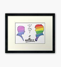 Johnlock LGBT pride (in version) Framed Print