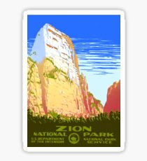 Zion National Park - Vintage Travel Poster Sticker
